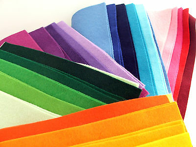 10 sheet 9 inch (23cm) blended wool felt square packs ~ colour theme choice