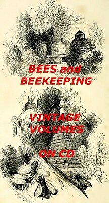 BEES BEEKEEPING CD 48 Old Books Honey Hives Apiary Antique Bee Book Collection