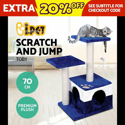 Cat Scratching Post Tree Scratcher Pole Furniture Gym House Toy Small 70cm BU