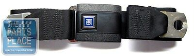1967-72 GM Black Standard Lap Seat Belt With GM Plastic Buckle