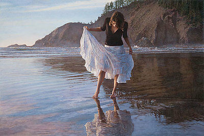 """""""Reflecting on Indian Beach"""" Steve Hanks Limited Edition Giclee Print"""