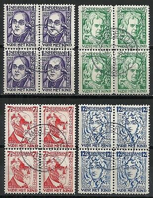 Netherlands stamps 1928 NVPH 220-223 Blocs of 4  CANC  VF