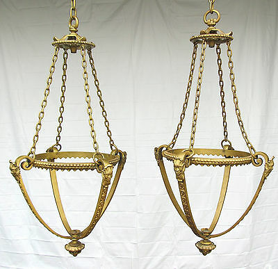 Antique Bronze Bacchus Neo-Classical Gothic Revival Hanging Pendant Foyer Light*