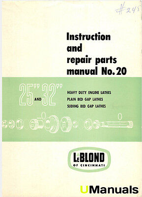 leblond regal lathe instruction parts manual bull picclick leblond 25 inch 32 inch lathe instruction and parts manual
