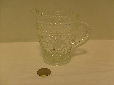 Wexford Crystal Cream Pitcher Anchor Hocking, Vintage USA made