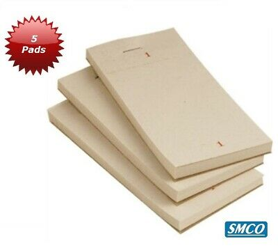 5 CAFE Pub BAR Takeaway FOOD ORDER PADS Single Ply EACH SHEET WILL SPLIT IN 2