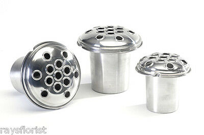 Grave Vase Container Silver Aluminium Grave Pot Insert Available in 3 Sizes