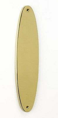 Deluxe Weight Solid Brass Oval Finger Plate 309mm x 79mm