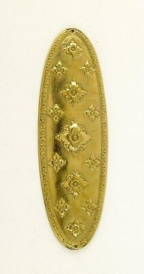 Oval Ornate Finger Plate and Door Plate FP155/PBL