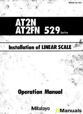 Mitutoyo 529 Series Linear Scale Instruction and Installation Manual