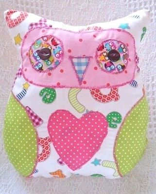 Owl Cushion Craft Kit Patchwork Sewing Easy Adult & Childrens Craft Cushion Kit