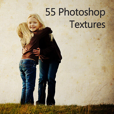 55 Original High Resolution Photoshop Textures for your Photos on CD