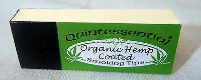 Smoking Filter TIPS Quintessential ORGANIC HEMP Coated ORIGINAL Booklets