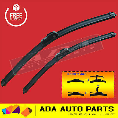 Frameless Windscreen Wiper Blades For Toyota Hilux 88-05 (PAIR)