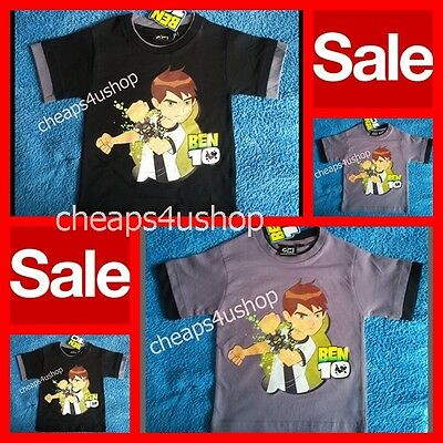 ※002※Official New ※ BEN 10 * QUALITY & SOFT 100%Cotton T Shirt 1-10Y