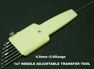 1X7 Needle Adjustable Transfer Tool 4.5mm / 9mm Brother Singer Silver Reed KA084