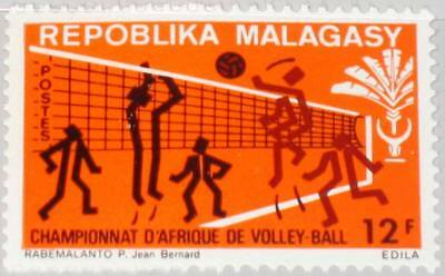 MADAGASCAR MALAGASY 1972 660 474 x2 African Volleyball Championship Sport MNH