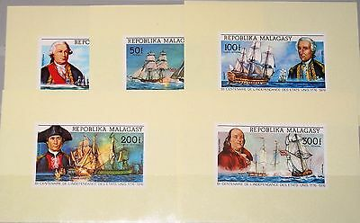 MADAGASCAR MALAGASY 1975 742-6 DELUXE SH 525-6 C137-9 Ships Schiffe Warships MNH