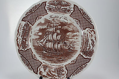 Fair Winds Alfred Meakin Staffordshire England Plate Chinese Export Scenes
