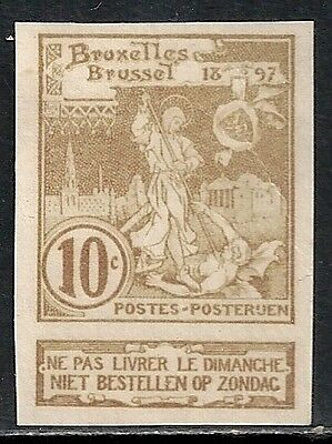 Belgium stamps 1897 OBP 73 Imperforated PROOF  UNG  VF