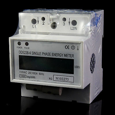 110V Single Phase DIN-rail Type Kilowatt Hour kwh Meter 60hz