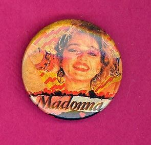 Madonna 1990 UK petite badge button pinback HH