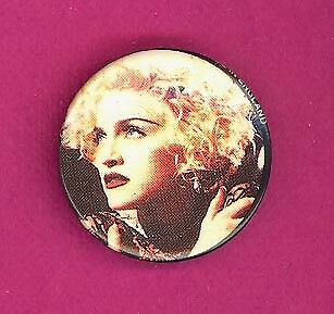 Madonna 1990 UK petite badge button pinback X