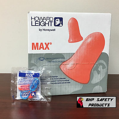 Howard Leight Max-30 Disposable Foam Earplugs Corded (1000 Pair/10 Box Special)