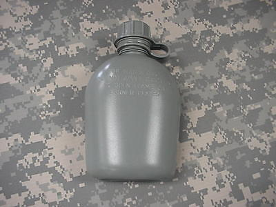 New, Us 1 Quart Collapsible Plastic Canteen, Foliage Green
