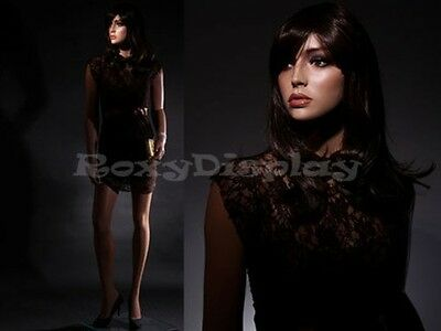 Fiberglass Female Manequin Mannequin Display Dress Form #MZ-LISA8+FREE WIG