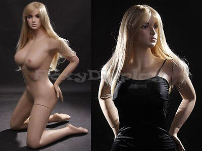 Fiberglass Female Sexy Mannequin Display Dress Form #MZ-VIS2+FREE WIG