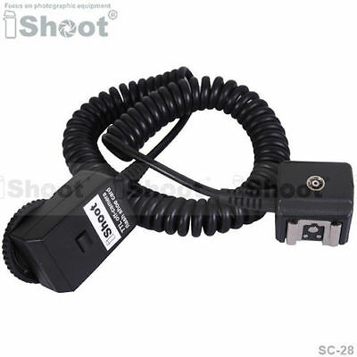 Flash SYNC I-TTL Off-Camera Shoe Cord Cable with Test Key for Nikon SC-28 SC-29