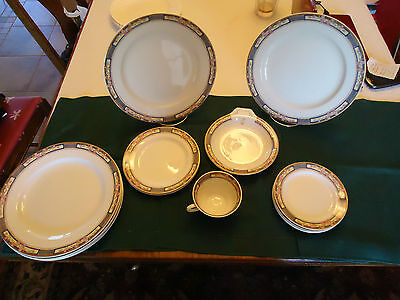 Rare 14-Pcs W H Grindley England China Dinner Plates, Salad Plates, Mug & More