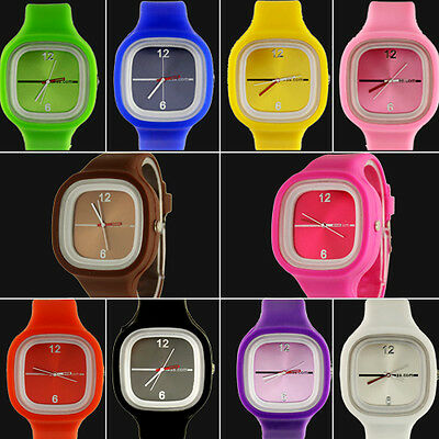 Hot sell colors cute Unisex Jelly Candy Sports Quartz Wrist Watch,A10