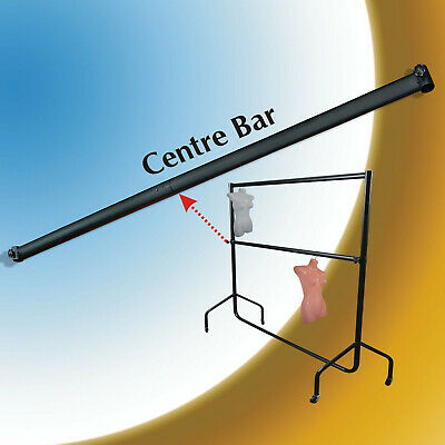 CLOTHES RAIL Centre Bar 6ft Makes Double Hanging Rail! - ALL BLACK