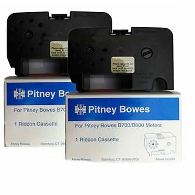 Original OEM Pitney Bowes B700 B721 RED Franking Machine Ink Ribbon Cassette x2