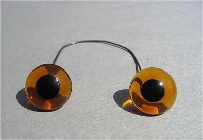 Amber glass eyes with black pupil for rocking horse