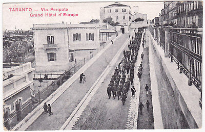 Taranto - Via Peripato - Grand Hotel D'europe - Viagg. 1917 -38884-