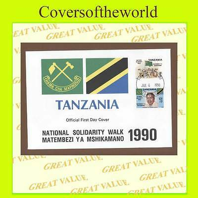 Tanzania 1990 National Solidarity Walk set on First Day Cover