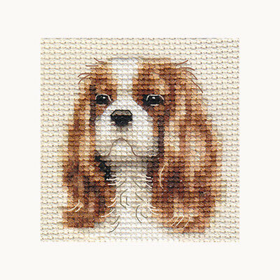 CAVALIER KING CHARLES SPANIEL dog ~ Full counted cross stitch kit, all materials