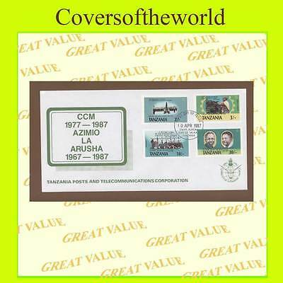 Tanzania 1987 10th anniv of CCM & Arusha Declaration set on First Day Cover