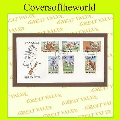 Tanzania 1988 Domestic Animals set on First Day Cover