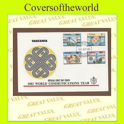 Tanzania 1983 World Communications Year set on First Day Cover