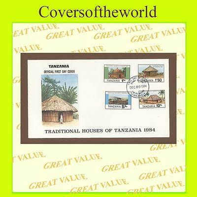Tanzania 1984 Traditional Houses set on First Day Cover