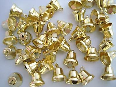 "24 Small 1/2"" Craft Jingle Bell Christmas/Bow/embellishment/ornament/bow M6-Gold"