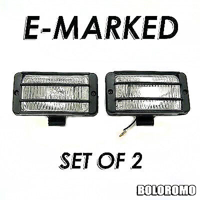 Universal White Car 4x4 Offroad Grille Fog Spot Lights Set Of 2 New