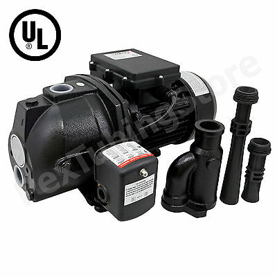 1/2 HP Convertible Shallow or Deep Well Jet Pump w/ Pressure Switch,Dual Voltage