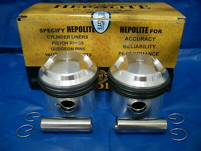 Triumph T100 1960 To 1967  New Hepolite  9:1    +20 , +40,  +60 , +80  Pistons.