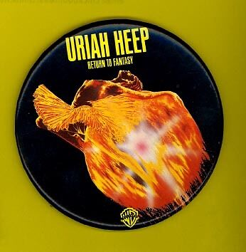 Uriah Heep 1975 OFFICIAL pinback button badge RETURN TO FANTASY ww