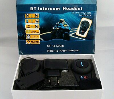 Motorcycle Bluetooth Multi Interphone headsets helmet intercom design for 2015